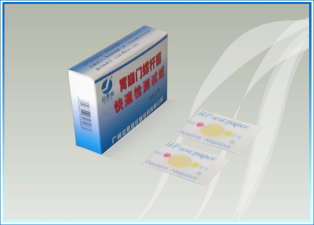 我公司研制的快速尿素酶检测试纸